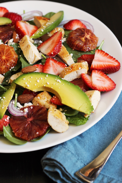 spinach salad strawberry