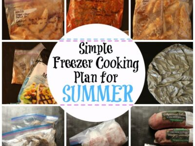 Simple Freezer Cooking Plan for Summer | Life as Mom