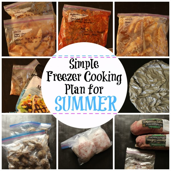 Simple Freezer Meals for Summer