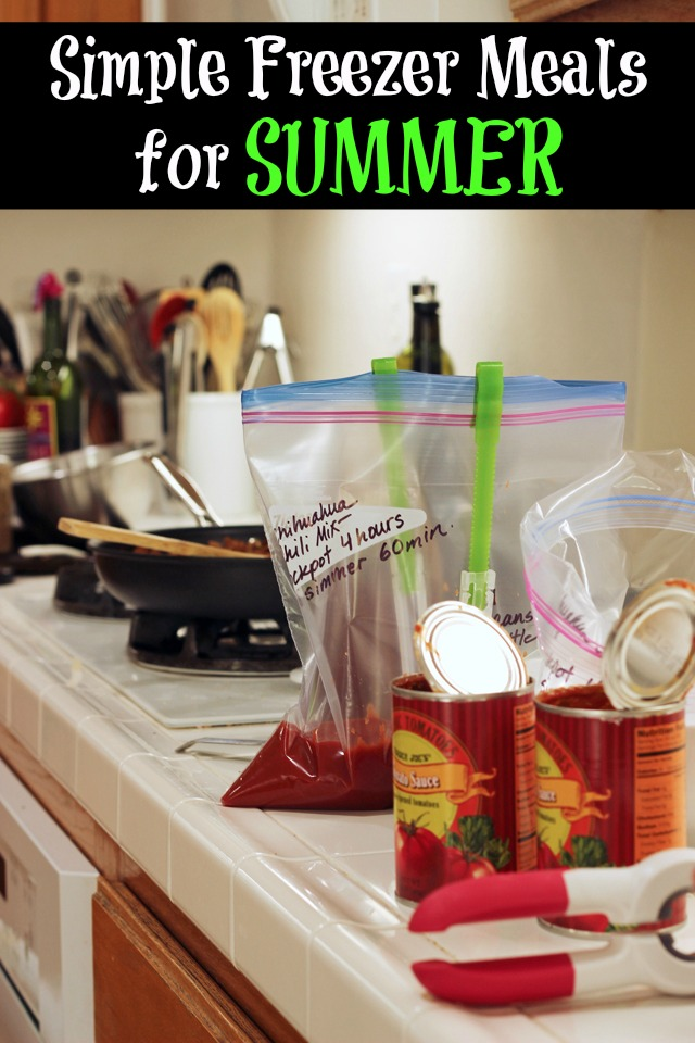 Simple Freezer Meals for Summer | Life as MOM