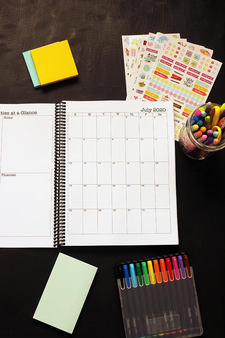 blank july 2020 calendar page