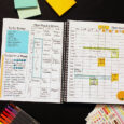 decorated weekly pages in planner