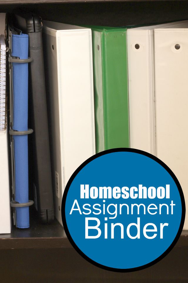 Homeschool Assignment Binders | Life as MOM