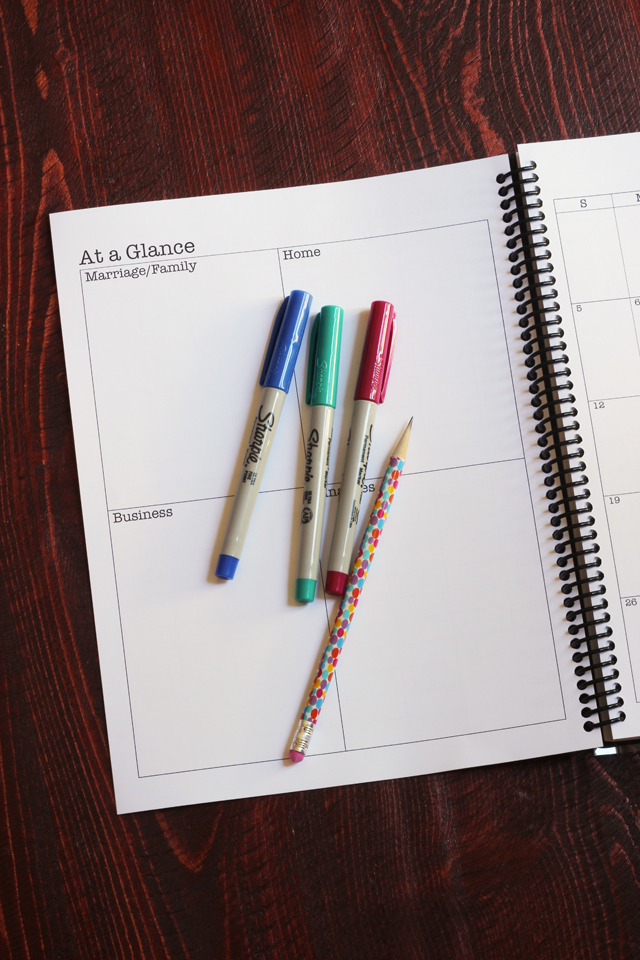 new planner at a glance