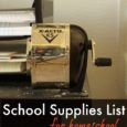 School Supplies List