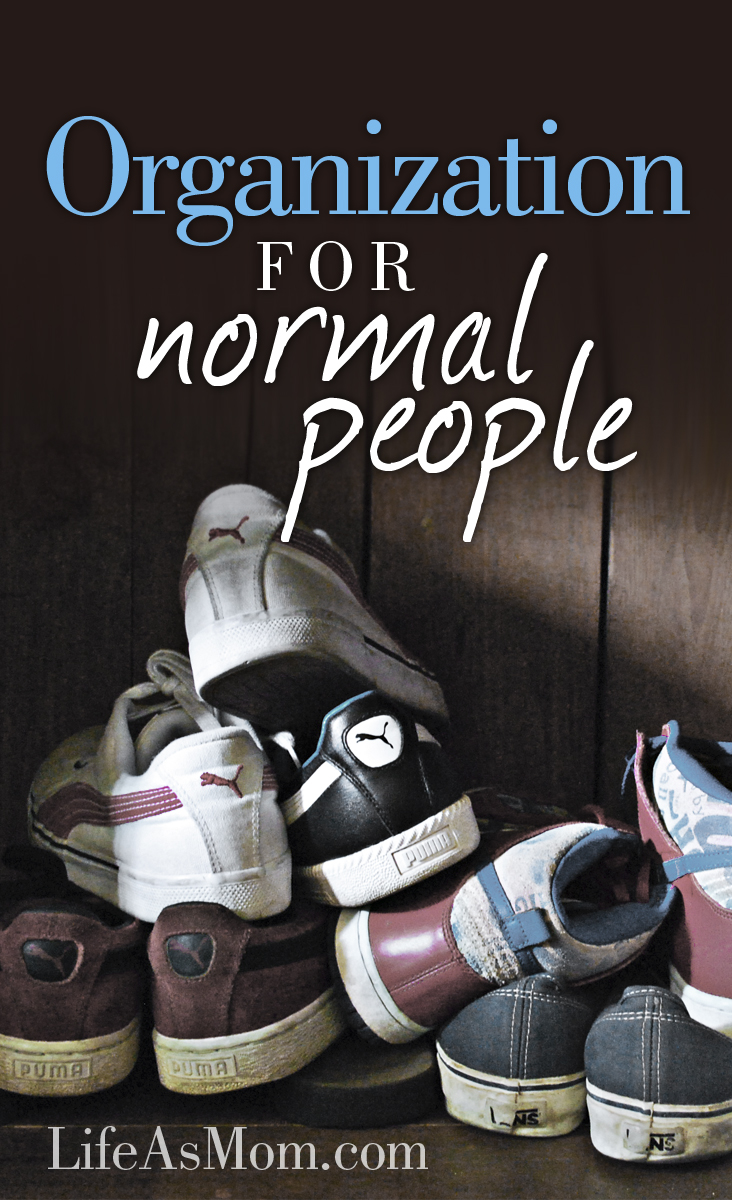 Organization for Normal People | Tips from LifeasMom.com
