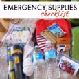emergency supplies checklist featured