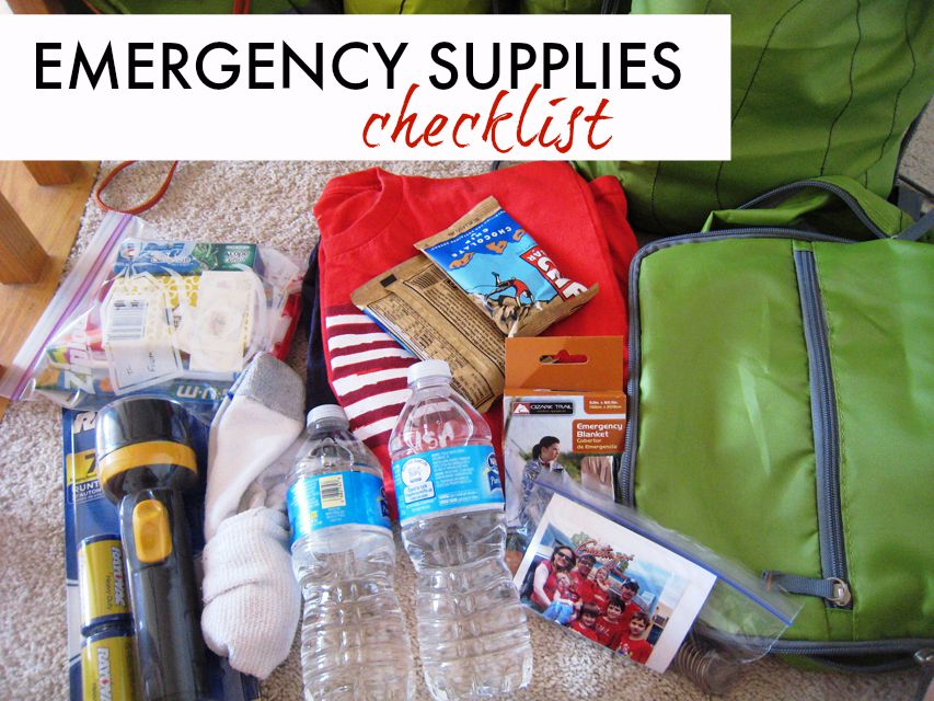 emergency supplies checklist