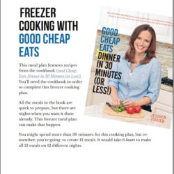 Easy Freezer Meals (FREE Cooking Plan to Go with Good Cheap Eats)