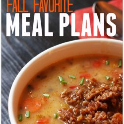 A Month of Fall Favorite Meal Plans