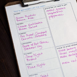 Free Weekly Meal Planner Life as Mom