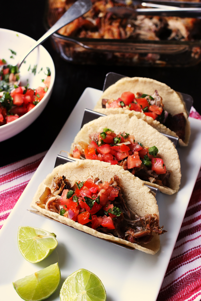 taco rack of carnitas tacos