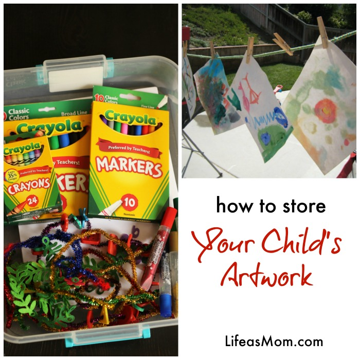 How to Store Your Child's Artwork | Tips from LifeasMom.com
