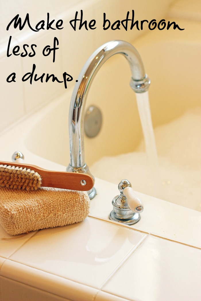 Make the Bathroom Less of a Dump | Tips from Life as Mom