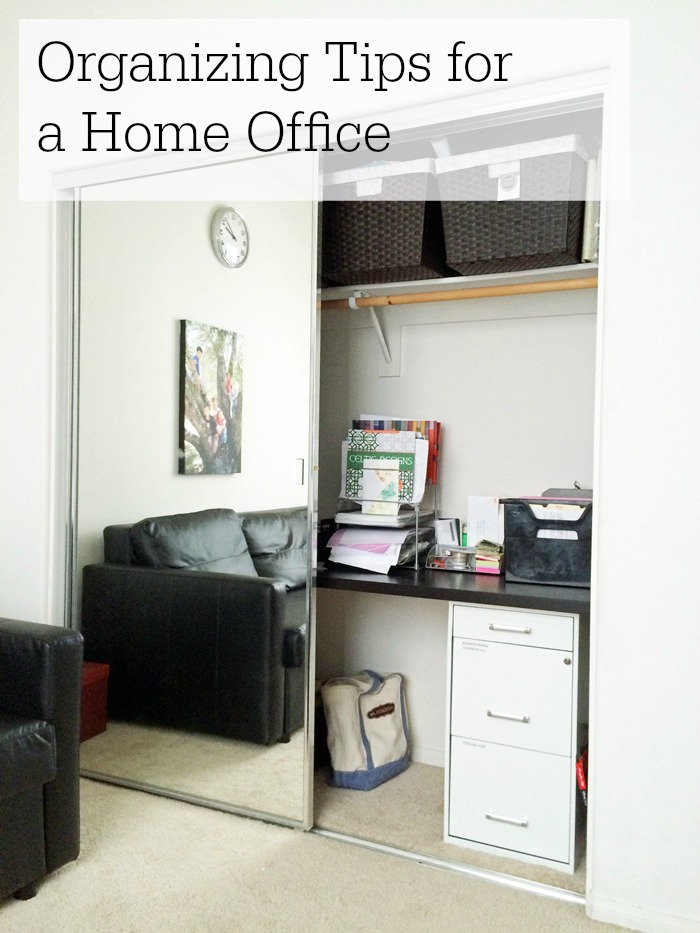 Organizing Tips for a Home Office | Life as Mom - Is your home office a disaster? I can relate. I've gathered some organizing tips to help us both keep the home office neat and tidy.