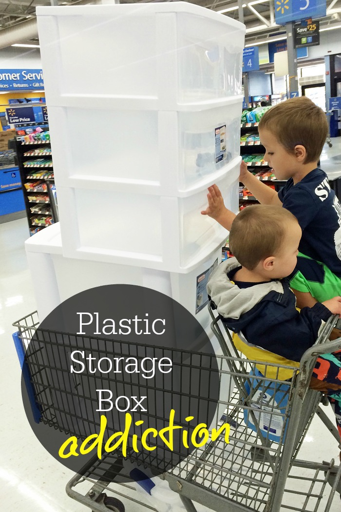 Plastic Storage Box Addiction | Life as Mom