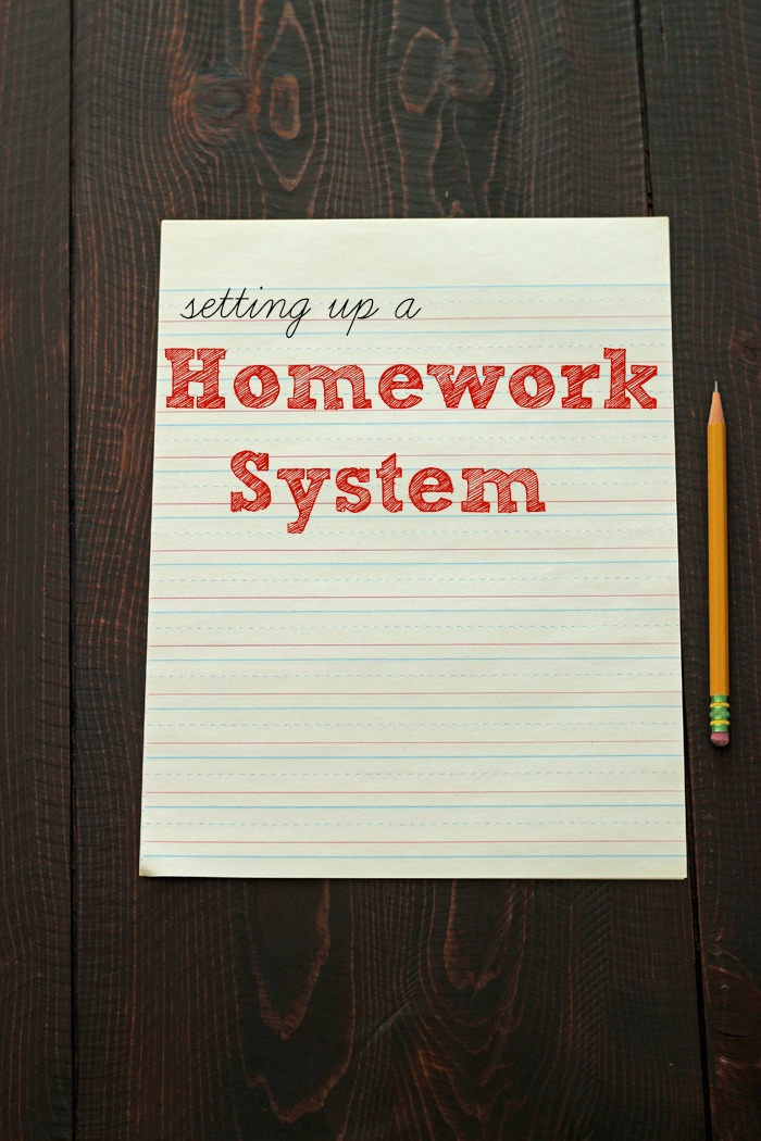 Setting up a Homework Station | Tips from Life as Mom
