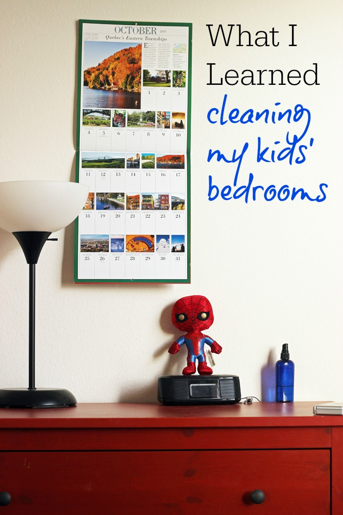 What I Learned Cleaning My Kids' Bedrooms