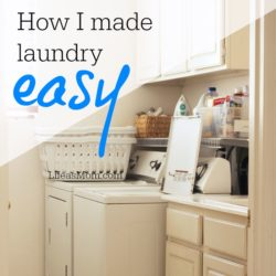 How I Made Laundry Easy on Myself
