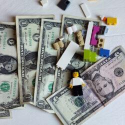 legos and money