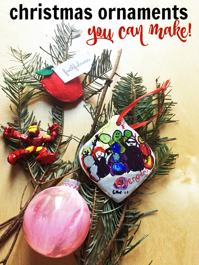 Christmas Ornaments You Can Make | Life as Mom - Adding a new ornament to your collection every year is a fun holiday tradition. You can make a memory at the same time with these Christmas ornaments you can make yourself!