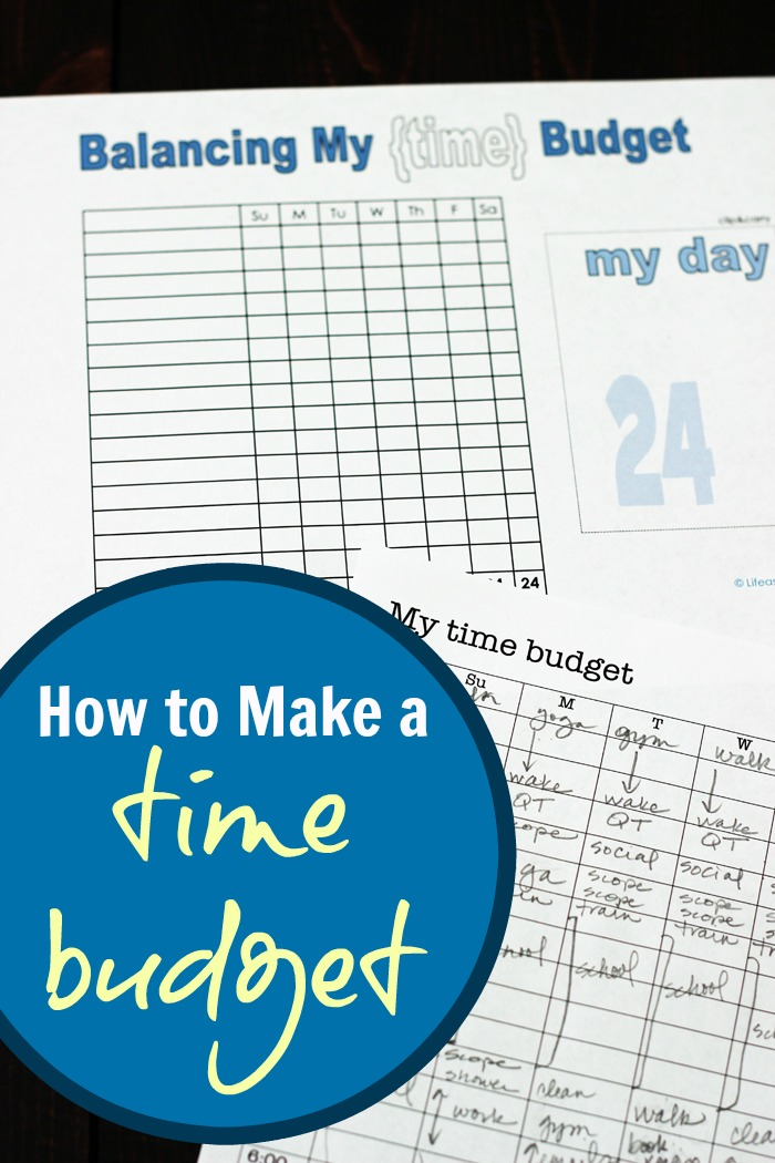 How to Make a Time Budget | Life as Mom