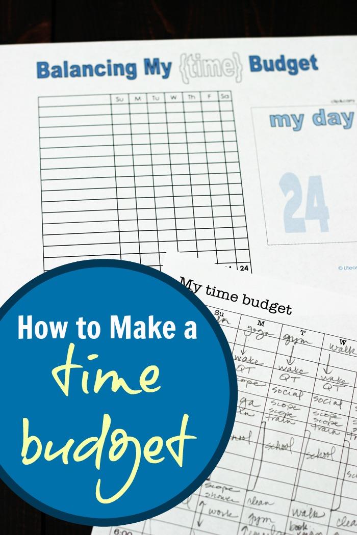 How to Make a Time Budget   Life as Mom
