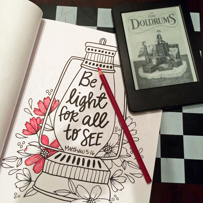 coloring page kindle