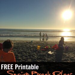 FREE Printable Spring Break Plans