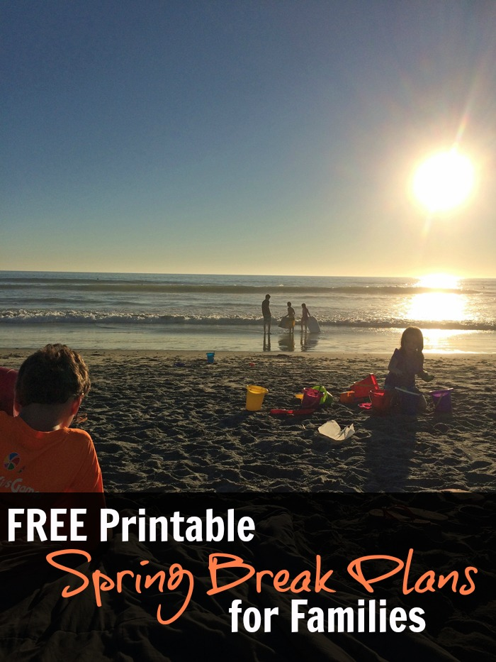 FREE Spring Break Plans PDF | Life as Mom