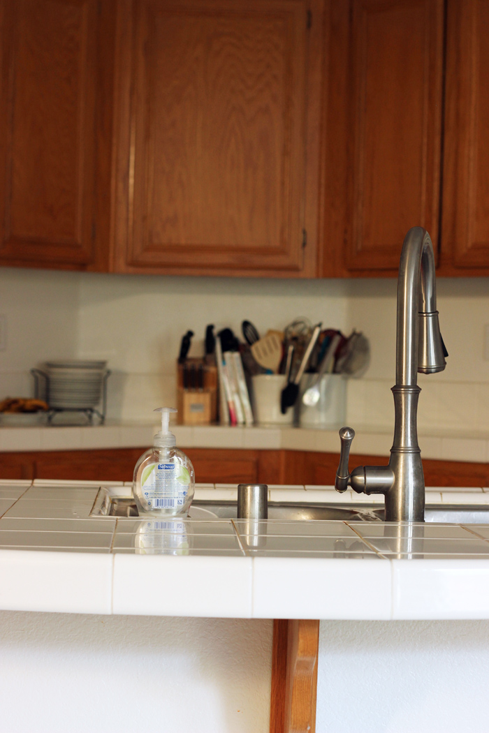 clear counters and sink in kitchen