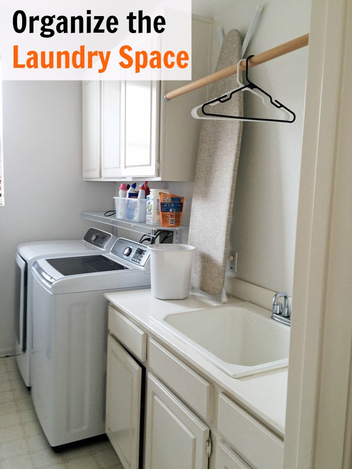 Organize the Laundry Space Pin