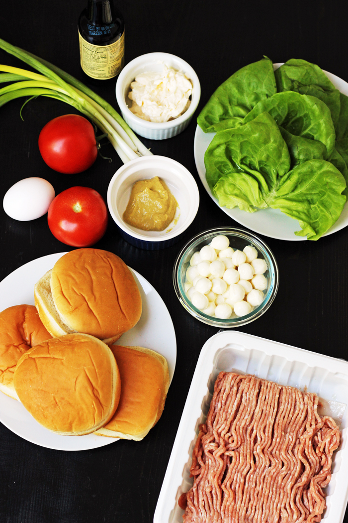 Inside Out Turkey Cheeseburgers Ingredients