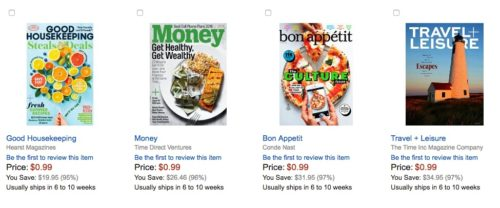 magazine deals amazon