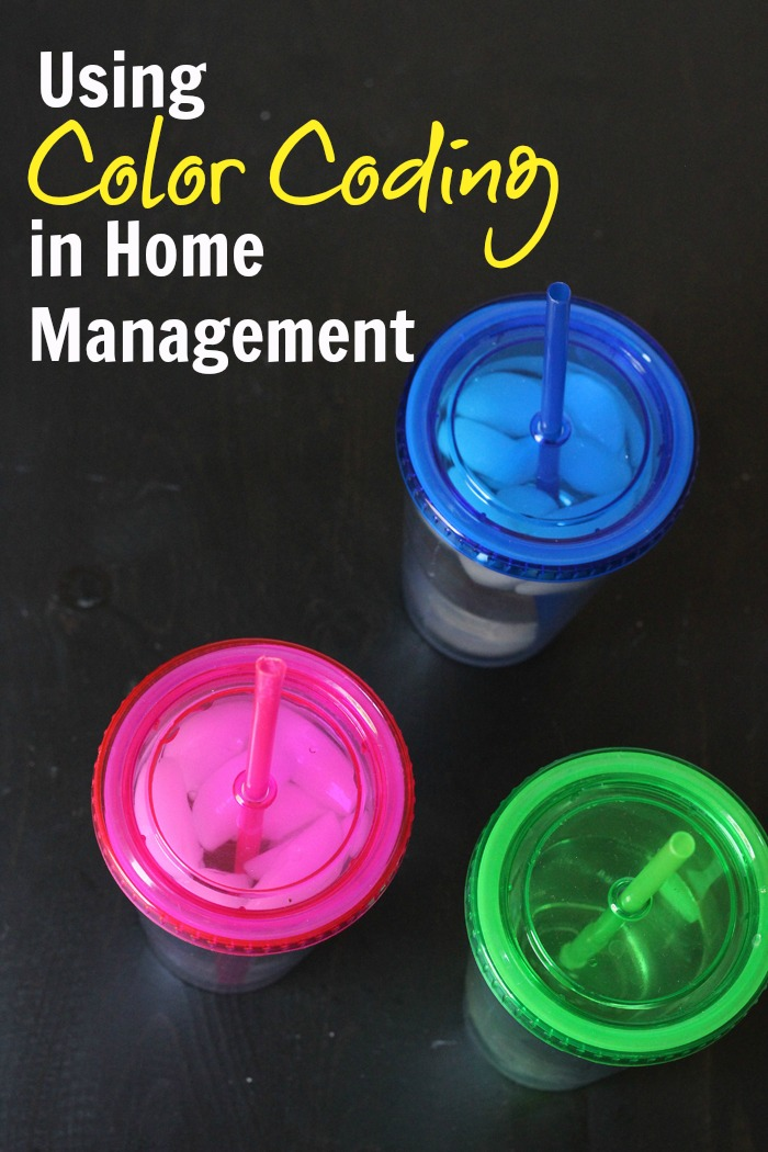 Color Coding in Home Management Life as Mom