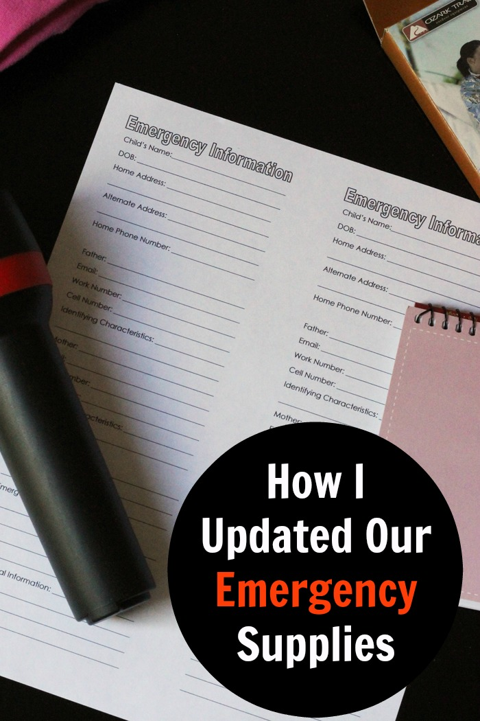 How I Updated Our Emergency Supplies | Life as Mom