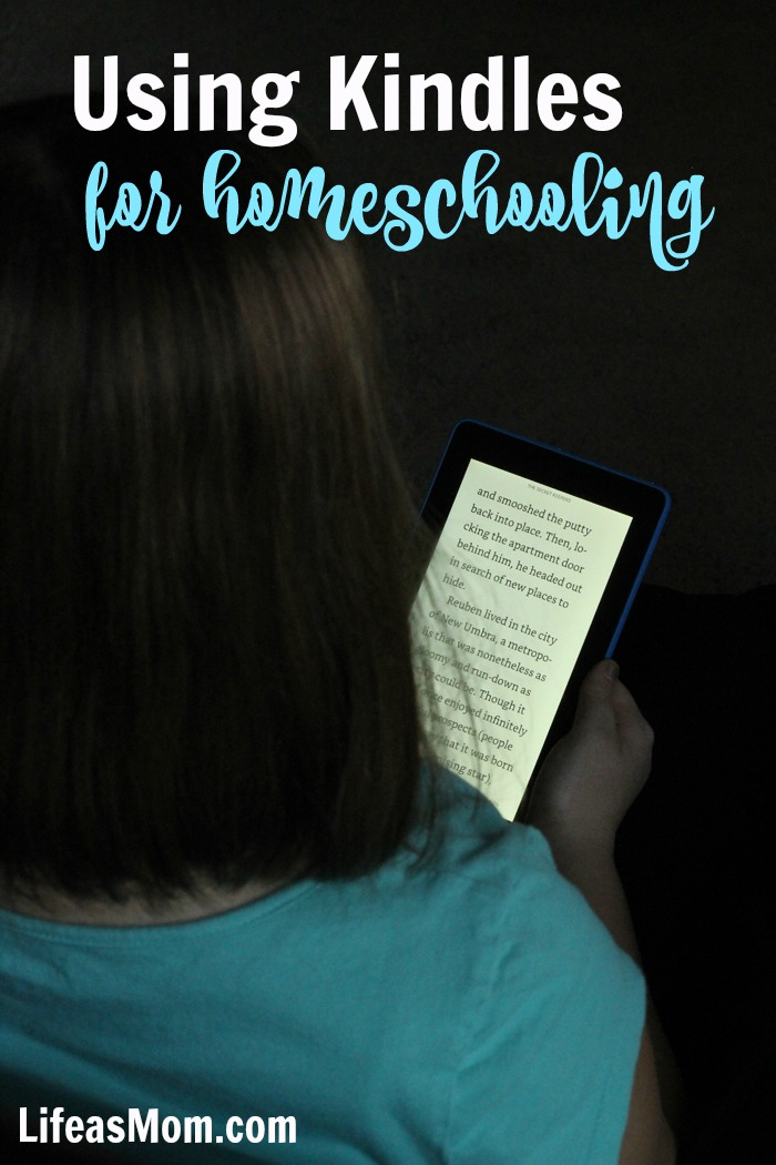 Using a Kindle for Homeschooling | Life as Mom