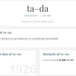 Make a Ta-Da List