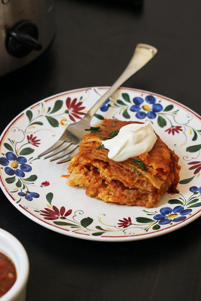 Crockpot Enchiladas | Life as Mom
