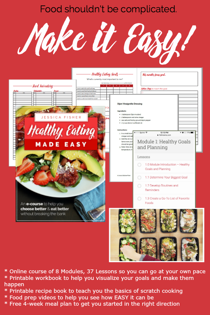 screenshot of what\'s included in Healthy Eating Made Easy