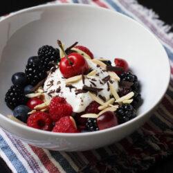 Nutty Berry Parfait with Dark Chocolate