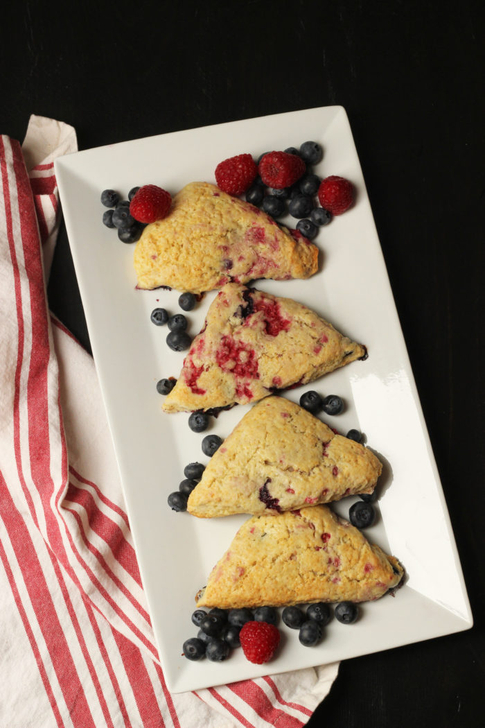Red, White & Blue Scones | Life as Mom