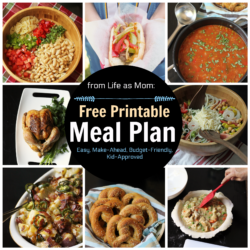 Weekly Meal Plan to Print & Cook #8 (The Chicken Plan)