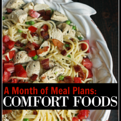 A Month of Comfort Foods Meal Plans