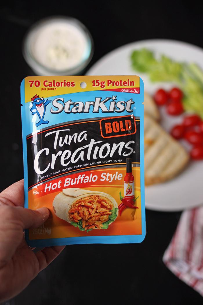 packet of StarKist Hot Buffalo Style Tuna