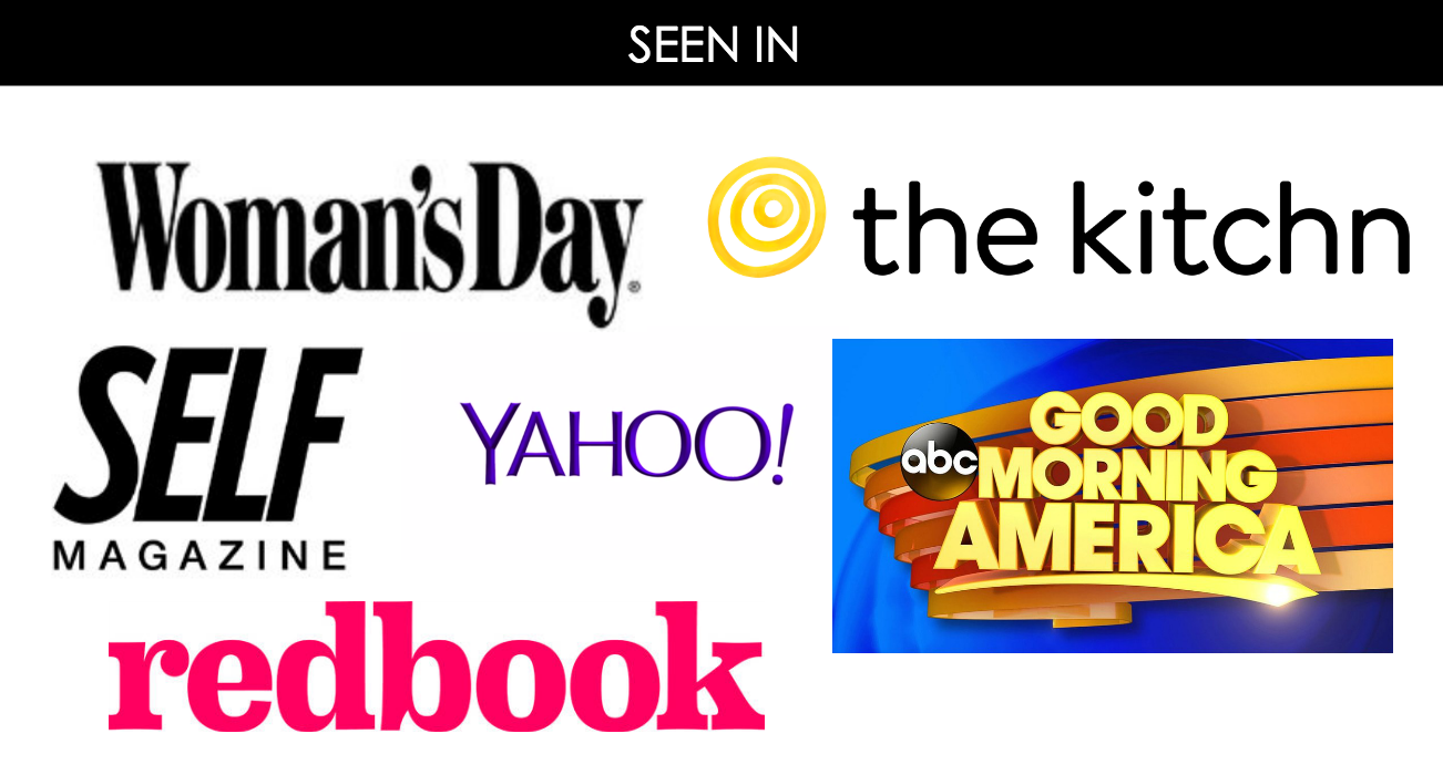 logos from GMA, RedBook, Yahoo, and other places Jessica has been published