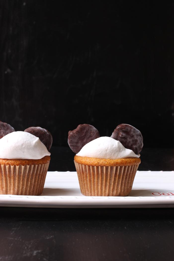 Coco-Nana Birthday Cupcakes
