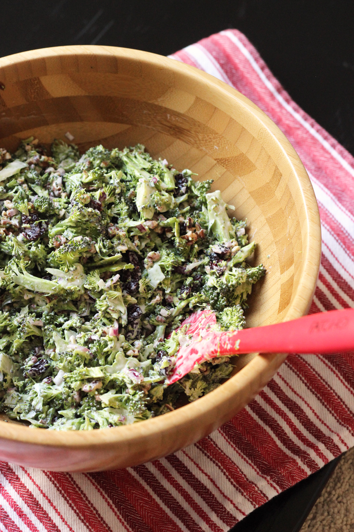 Broccoli Cranberry Salad With Pecans