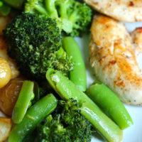 Lemon Broccoli and Peas