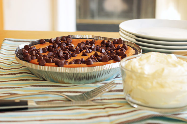 Chocolate Chip Pumpkin Pie